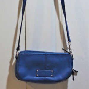 EC TIGNANELLO CROSSBODY BAG- BLUE LEATHER.